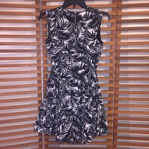 H & M Dress 2 Mini Skater Fit Flare Zip Lined